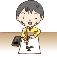 冨樫富美恵 書道教室 生徒さんイメージイラスト